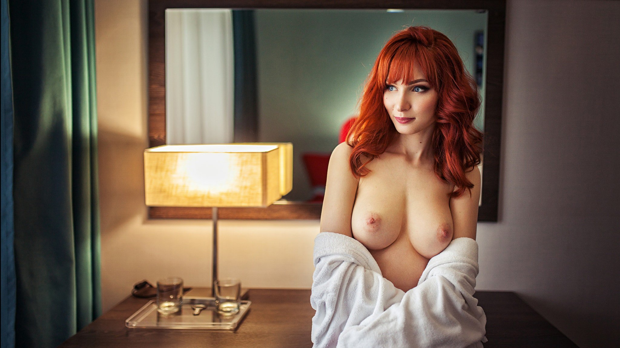 Hot redhead big tits and hairy pussy